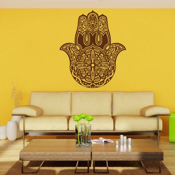ik903 Wall Decal Sticker hamsa hand protective amulet bedroom