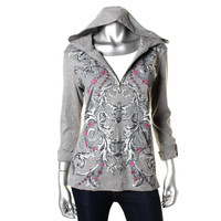 Style & Co. Womens Cotton Embellished Hoodie