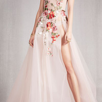 Off The Shoulder Floral Gown | Moda Operandi