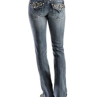 Miss Me Studded & Stitched Inlay Jeans - Sheplers