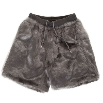 CANDY FUR SHORTS MEN / GRAY