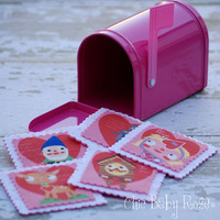 Retro Valentine Mail Box with 5 Wool Felt by chicbabyrose on Etsy