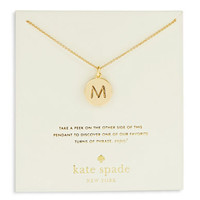 Kate Spade New York M Charm Necklace