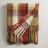Farmhouse Plaid Chenille Throw