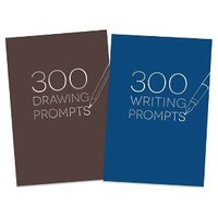 300 Writing/Drawing Prompts Notebook - Piccadilly