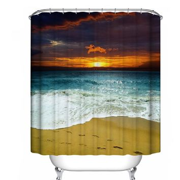 Custom Fabric Waterproof Bathroom Shower Curtain
