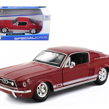 1967 Ford Mustang GT Red 1-24 Diecast Model Car by Maisto
