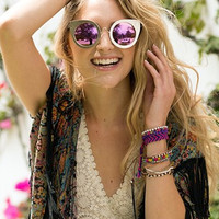 Quay Eyeware Tainted Love Gold Sunglasses in Gold