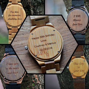Wood watch,mens watch, wooden watch, Engraved Wooden Watch, Groomsmen Gift, Father Gift, Mens watch, Anniversary Gift,Boyfriend Gift