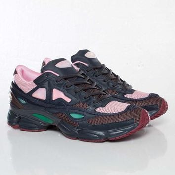 PEAPON Raf Simons x Adidas Consortium Ozweego 2 Night Marine Pink Women Men Casual Trending Running Sports Shoes Sneakers