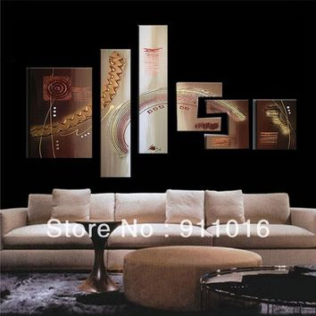 Free Shipping 100%Handmade Textured Modern Oil Painting On Canvas Large Wall Art Top Home Decoration OSM Abstract Metal Wall Art