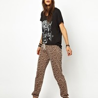 Obey Leopard Print Sweat Pants at asos.com