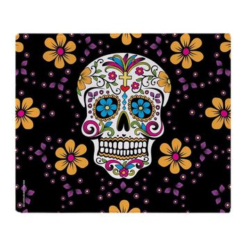 Creative Design Blanket Sugar Skull BLACK Soft Fleece Throw Blanket