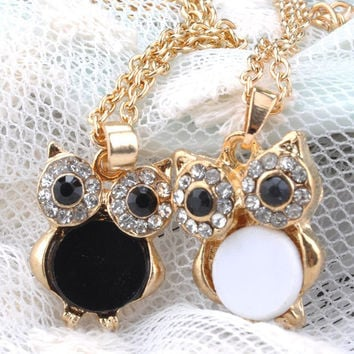 Gold Owl Pendant Necklace