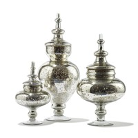 Pentimento Vintage Jars with Silver Antique Finish