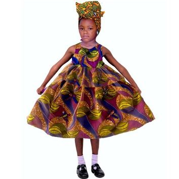 Kaylin African Print Girl's Dress