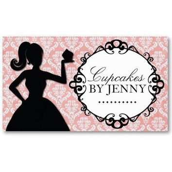 Classy Cupcake Silhouette Business Cards from Zazzle.com