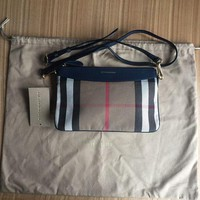 DCCKUG3 Women¡¯s Burberry Leather And House Check Crossbody Bag