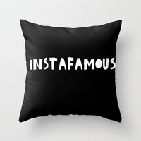 INSTAfamous Black Throw Pillow by Lucy Helena
