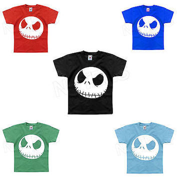 Nightmare Before Christmas Jack Inspired Funny Kids T-Shirt 1-2 to 14-15 Years