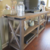 Rustic X Console/ Media Table