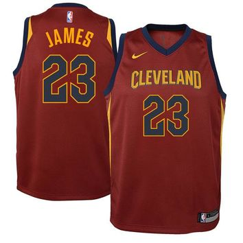 Youth Cleveland Cavaliers LeBron James Nike Maroon Swingman Jersey - Icon Edition