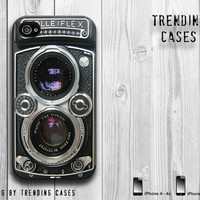 Vintage Camera  iPhone 4 , iPhone 5, Photographer Case. Retro camera. Silver Lens, iPhone skin-Christmas Gift