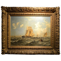 Stunning 19th Century Marine Painting