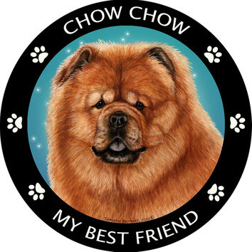 Chow Red My Best Friend Magnet