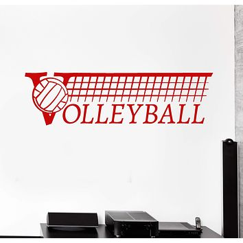 Vinyl Wall Decal Volleyball Logo Sport School Ball Player Stickers Unique Gift (2017ig)