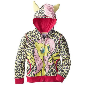 My Little Pony - Fluttershy Front Girls Juvy Costume Zip Hoodie