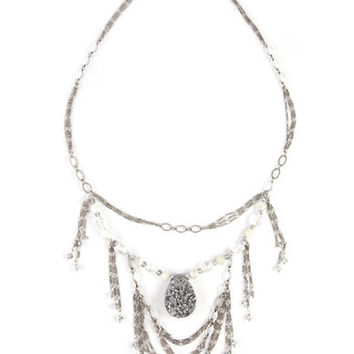 Chan Luu Multi Stone Frontal Necklace