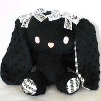 Plush Black Music Note PatterBunny