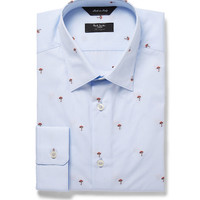 Paul Smith London - Blue Embroidered Cotton Shirt | MR PORTER