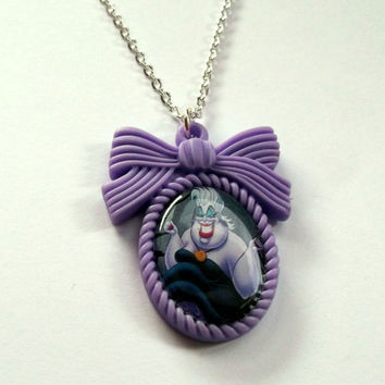 Ursula  Necklace Disney Cameo Necklace by KitschBitchJewellery