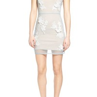 Lovers + Friends 'Bianca' Mesh Overlay Body-Con Dress | Nordstrom