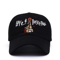 cc spbest Love & Basketball Embroidered Dad Cap