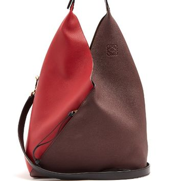 Sling contrast-panel leather shoulder bag | Loewe | MATCHESFASHION.COM US