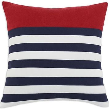 Hamptons Pillow - Striped Pillows - Square Pillows - Decorative Sofa Pillows - Decorative Throw Pillows - Accent Pillows - Decorative Pillows | HomeDecorators.com