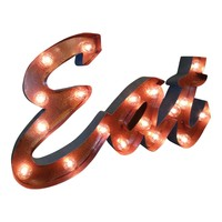 Eat Marquee Letter Light Sign