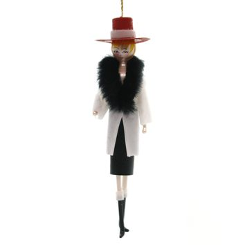 De Carlini LADY IN RED COWBOY HAT Glass Ornament Italian Mid Year 2018 Do7506m