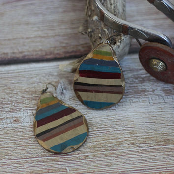 Old Gringo Serape - Clay Earrings
