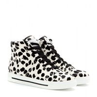 marc by marc jacobs - animal-print calf hair high-tops