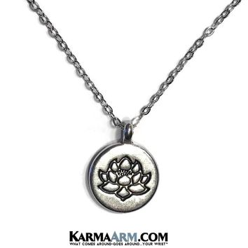 REBIRTH: Lotus | 18K White Gold Stainless Steel Chain Necklace