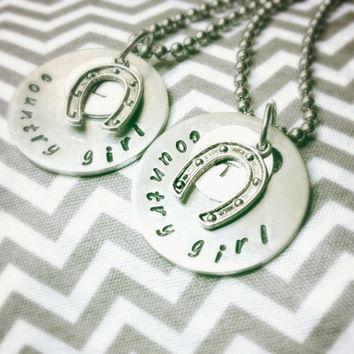 20% OFF!!   Personalized Country Girl Necklace