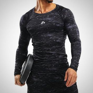 Men's Compression Shirt Long sleeve Breathable Quick Dry