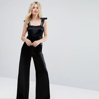 MAX&Co Palma Bow Detail Jumpsuit at asos.com