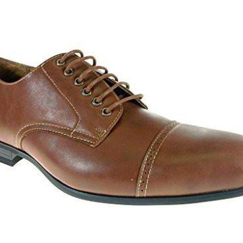 Ferro Aldo Men's 19350 Derby Cap Toe Lace Up Oxfords Dress Shoes