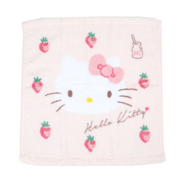 Hello Kitty Wash Towel: Strawberries