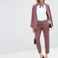 ASOS Ankle Grazer Cigarette Trousers in Crepe at asos.com